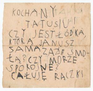 List Jerzyka doTadeusza Wendy, ok. 1929, rękopis, zezbiorów prywatnych